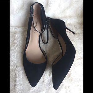 "7b8e43c8195d ANTONIO MELANI Shoes - ANTONIO MELANI Black ""Marchela"" Suede Heels"